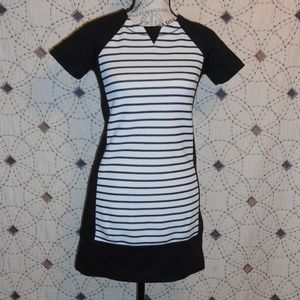 EUC Lou & Grey Petite Striped Sweater Dress XXS